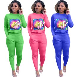 $enCountryForm.capitalKeyWord NZ - Women Designer Sweatsuit Hoodies+Leggings Two Piece Sets Tracksuit Bodycon Trousers Skinny Pants Fall Winter HOT Selling DHL 1287