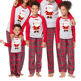 d3a6ffcaf4a Cute Santa Claus Pyjamas For Family Matching Christmas Pajamas Set Adult  Men Women Kids Baby Sleepwear 2019 New Year s Nightwear