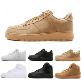 Golf cut online shopping - Freeshipping Dunk Mens Women Flyline Running Shoes Sports Skateboarding Ones Shoes Cut Black White Wheat Trainers Sneakers