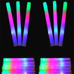 Toptan satış LED Renkli çubuklar led köpük sopa yanıp sönen köpük sopa, ışık tezahürat kızdırma köpük sopa konser Işık çubukları