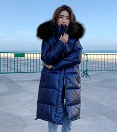 warm long stylish coats women Australia - women winter coats High Quality New Winter Jacket Women Warm Thicken Hooded With Fur Long Coat Shining Fabric Stylish Female Parka