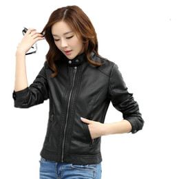 $enCountryForm.capitalKeyWord Australia - 2018 Black Pimkie Faux Pu Motorcycle Coat Leather Jacket Women Winter Leather Jackets Coats Winter Outerwear Chaqueta Pu Mujer