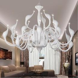 $enCountryForm.capitalKeyWord Australia - Art Deco European Candle Crystal LED Swan Chandeliers Ceiling Bedroom Living Room Modern Decoration G4 Lighting Free Shipping