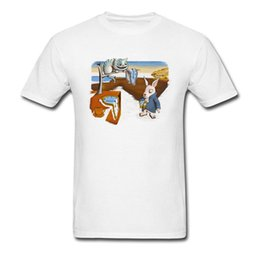 $enCountryForm.capitalKeyWord Australia - A Matter Of Time The Persistence Of Memory T Shirt Men T Shirt Salvador Dali Art Tshirt Rabbit & Cheshire Cat Top Clothes