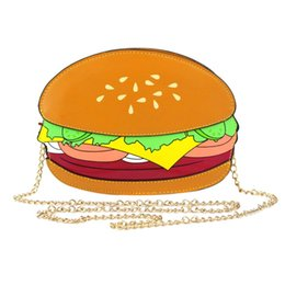 $enCountryForm.capitalKeyWord NZ - FGGS Hot Unique Cartoon Crossbody Bags for Women Hamburger French Fries Popcorn Shape Shoulder Messenger Bags Handbag