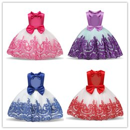 $enCountryForm.capitalKeyWord Australia - Children Embroidery Flower Clothing Kids Tutu Ball Gowns Summer Floral Girls Dresses Princess Party Pregnant Birthday Outfits