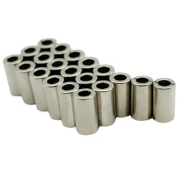 $enCountryForm.capitalKeyWord Australia - 20pcs Ndfeb Magnet Ring Dia. 8.3x4.5x15 Mm Diametrically Magnetized N48m Strong Magnet Neodymium Permanent Rare Earth Magnets