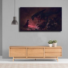 $enCountryForm.capitalKeyWord Australia - Star Aliens Wars Vs Darth Vader Painting Canvas Posters Prints Wall Art Painting Decorative Picture Modern For Kid Room Home Decoration