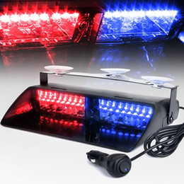 green police car Australia - 16 LEDs 18 Flashing Modes 12V Car Truck Emergency Flasher Dash Strobe Warning Light Day Running Flash Led Police Lights