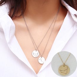 $enCountryForm.capitalKeyWord Australia - Simple sculpture Necklace Short necklace Constellation Handcrafted Pendant Accessories for men and women New Personality Jewelry