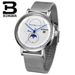 Wrist Watch Binger Australia - Switzerland BINGER Mechanical Watch Men Brand Luxury Men's Automatic Watches Sapphire Wrist Watch Male Waterproof Reloj Hombre