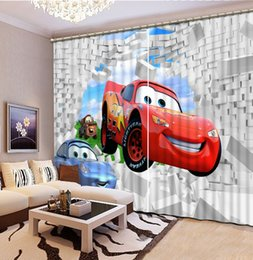 Discount 54 car - Car wall Customize Photo Curtains Stereoscopic living room Bedroom Kid room 3D Blackout Grommet Top Curtains