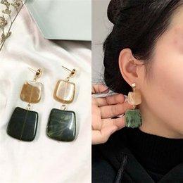 $enCountryForm.capitalKeyWord Australia - 2018 New Hot Fashion Geometric Square Earrings Brincos Oorbellen Acrylic Connection Pendants Drop Earrings For Women Jewelry