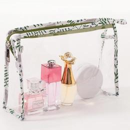 $enCountryForm.capitalKeyWord Australia - best selling Designer Brand Logo PVC Women's Cosmetic Bags Potable 3-pieces Set Storage Cases Waterproof Zipper Pencil Bag Mini Makeup Bags