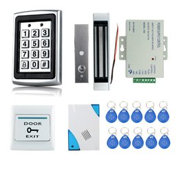 $enCountryForm.capitalKeyWord Australia - Hot selling!! Full Complete RFID Door Lock Access Control System+Power Supply+Electric Magnetic Lock+Door Exit Button+Bell+Keys
