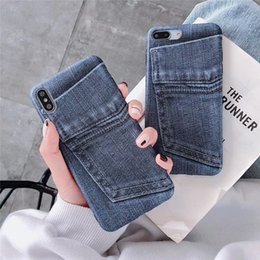 premium mobile phones NZ - S10 Mobile phone case Scrub Personalized jeans pocket Premium mobile phone case for iPhoneX XS XSMAX