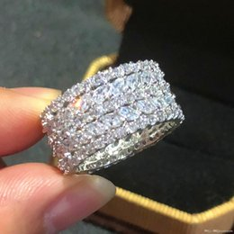 marquise engagement rings Australia - 2017 2017 Pay4U Luxury 925 Sterling silver Jewelry Brand Marquise Cut Simulated diamond painting full CZ Engagement Wedding Rings For Women