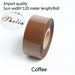stamped leather NZ - 5CM Width*120 Meter  Coffee Color Rolls Hot Foil Stamping Paper Heat Transfer Anodized Gilded Paper for Leather PU Wallet Hot foil stamping