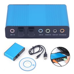 USB Sound 6 Channel 5.1   7.1 Surround External Sound Card PC Laptop Desktop Tablet Audio Optical Adapter Card on Sale