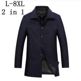 2019 Spring New Mens Woolen Jackets Trench Coat Men Mandarin Collars Windbreaker Spring Woolen Overcoat Homme Full Size M-3xl The Latest Fashion Jackets & Coats