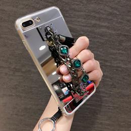 $enCountryForm.capitalKeyWord Australia - Diamond bracelet chain tassel mirror phone case cover For Huawei P10 P20 Lite Plus Y5 Y6 Y9 2017 2018 Mate 9 10 20 lite Pro