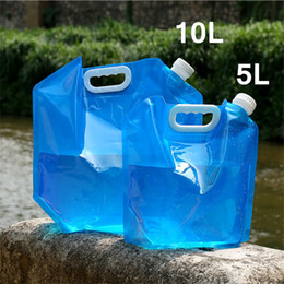 $enCountryForm.capitalKeyWord Australia - Outdoor Water Bags 5L 10L Foldable Drinking Camping Beach Hiking Bag Water Carrier Cooking Container Picnic Emergency Kits