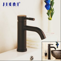 $enCountryForm.capitalKeyWord Australia - JIENI Black Painting Solid Brass Bathroom Basin Mixer Faucet Chrome Stream Spout Tall Short Washbasin Sink Deck Mount Mixers Tap
