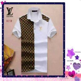 Ingrosso Topsluxury designer polo per il tempo libero Polo t-shirt graffiti ricamato polo uomo polo strada commerciale moda uomo