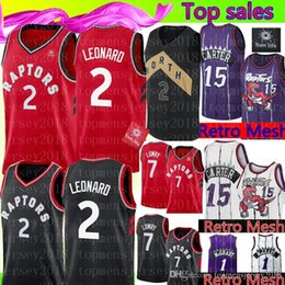 Kawhi Leonard Jersey Australia - Kawhi 2 Leonard Toronto   Raptors Jersey  Retro Mesh Vince 15 08a27e477bc5