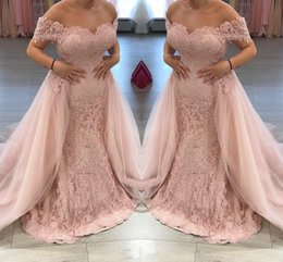 $enCountryForm.capitalKeyWord NZ - Stunning Mermaid Lace Mermaid Evening Dresses Overskirt Lace Saudi Arabia African Party Prom Dresses Pageant Gowns Robe De Soiree DH4185