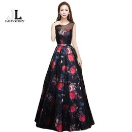 $enCountryForm.capitalKeyWord UK - Lovoney New Design Flower Pattern Elegant Evening Dress Long See Through Back Formal Party Dresses Evening Gown