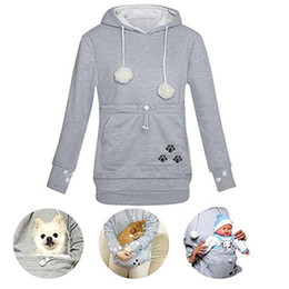 9c7092b9164f Pocket dogs online shopping - Cat Lovers Hoodies Kangaroo Dog Pet  Sweatershirt with Cuddle Pouch Pocket