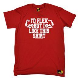 Camiseta de musculación deportiva Camiseta para hombre de la novedad divertida Camiseta - Id Flex, pero me gusta esta camiseta oscura de orgullo para hombre en venta