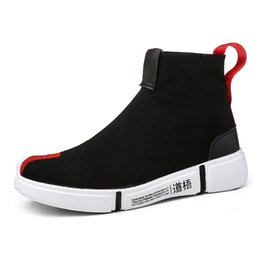 platform walking casual shoes NZ - Men Sock Walking Footwear 2019 Fashion High Top Casual Shoes for Men Breathable Flats Mens Casual Platform Shoes Zapatos Hombre