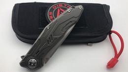 Nouvel outil de couteau de camping portant un roulement en acier délavé en acier ICE S90V de district 9 en Solde