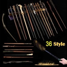 Vente en gros Qualité supérieure 36 Styles Résine avec noyau en métal Baguettes Harry Potter Collections de baguette magique de Cosplay Accessoires sans boîte d'emballage