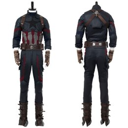 $enCountryForm.capitalKeyWord UK - ostumes Accessories Cosplay Costumes High Qualtiy Avengers Infinity War Captain America Steve Rogers Cosplay Costume Outfit Boots Hallowe...