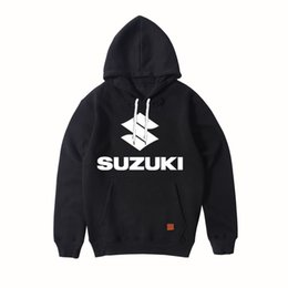 Wholesale Spring Autumn SUZUKI Cars Logo Print Men Sportswear Fashion Print Hooded Slim Pullover Hip Hop Male Tracksuit Sweatshirts Tops