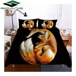 $enCountryForm.capitalKeyWord NZ - GOANG kids bedding sets Duvet Covers and Pillowcases 3d digital printing Yellow fox home textiles