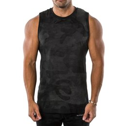 $enCountryForm.capitalKeyWord Australia - 2019 New Sports Fitness Vest Men Test Running Training Hot Breathable Sleeveless Camouflage Vest O-neck Solid Color