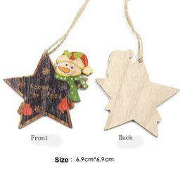 $enCountryForm.capitalKeyWord Australia - Factory direct sell Christmas beautiful stars wooden card Christmas tree decoration printing wooden pendant wood crafts