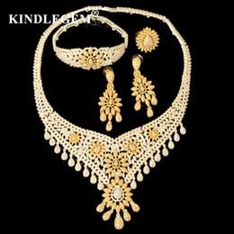 $enCountryForm.capitalKeyWord Australia - wholesale Luxury Parure Bijoux Femme Dubai Gold Silver Necklace Sets Fashion Indian African Beads Tassel Jewellery For Women