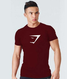Wholesale xxl t shirt collar online – design 2019 gym new fashion Men s Summer Large Round collar and Short sleeved Sports Leisure Cotton Short sleeved Round collar T shirt Shark Head