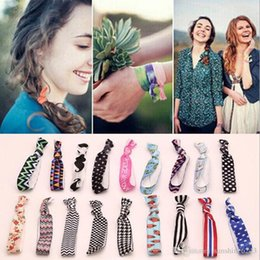 hair elastic bracelet UK - New Fashion cute Knot Elastic Hair Rubber Bands Ponytail Hair rings Bracelets fabric knotted headwear hair accessories