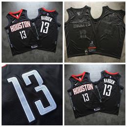$enCountryForm.capitalKeyWord Australia - Top Quality Hot Houston Basketball Rockets 13# James Harden Jersey Dense AU Fabric All Black Dense Embroidery Jerseys