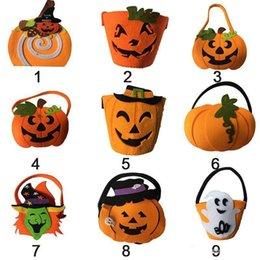 Sacos de abóbora de Halloween Hallowmas Sacos Sacos de presente Cordão Saco de doces Truques Ou Favor de festa de Halloween para crianças brinquedos em Promoção