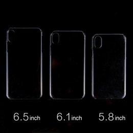Venta al por mayor de Funda de plástico transparente de calidad superior para PC transparente negro caja del teléfono bayer 2407 funda de impresión de transferencia de calor para iPhone 8/7 Plus Xs XR Max Note9