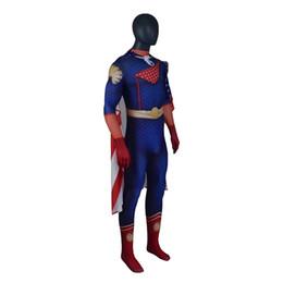 Wholesale men xxl bodysuit for sale – custom The Boys Cosplay Homelander Costume cosplay Uniform cloak jumpsuit Full set women men Halloween Carnival Costume bodysuit