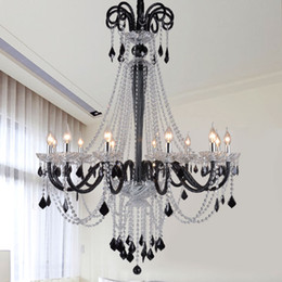 traditional candles Australia - modern led crystal chandelier lighting modern led chandeliers dining room light candle crystal lamp large crystal chandelier E14