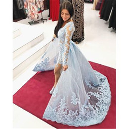 Little Bride Jackets Australia - 2019 Prom Dresses Overskirt Plus Size Kaftan V Neck Capped long sleeve dress Evening Gowns Mother Of The Bride Dress Arabic Guest Dress